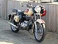 -2019-02-24 Royal Enfield Bullet motorcycle, Kingfisher Café and Fish Bar, Walcott.JPG