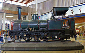 R and W Hawthorn - 1859 Pickerings locomotive plinthed at Cape Town station
