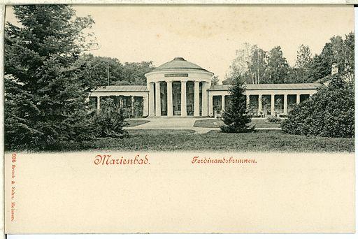 00936-Marienbad-1899-Ferdinandsbrunnen-Brück & Sohn Kunstverlag
