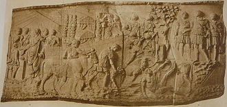 Tent - Roman Army leather tents, depicted on Trajan's Column.