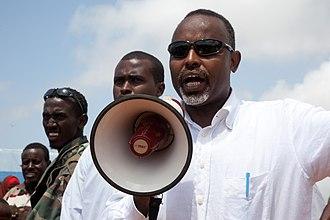 Mayor of Mogadishu - Image: 07 09 2011 Mogadishu Mayor and President open new market area in Mogadishu (6132219557)