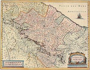 Duchy of Urbino - Image: 08 Ducato di Urbino, 1635 Henricus Hondius, Jan Jansson