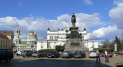 National Assembly Square in central Sofia