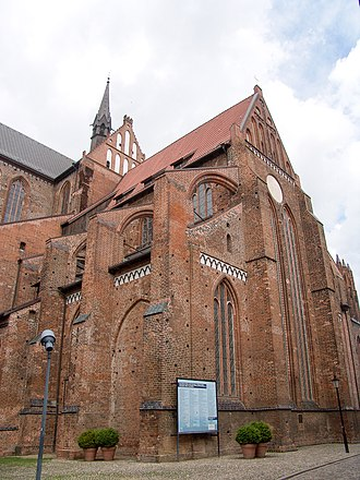 Wismar - Reconstruction of the Medieval Gothic Georgenkirche (St. George's Church) was completed in 2010.