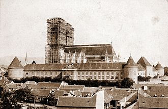 Zagreb - Construction of the Zagreb Cathedral 1894.