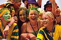 141100 - Audience Australian fans cheer 2 - 3b - 2000 Sydney public photo.jpg