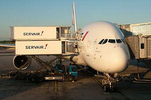 Servair - Servair catering an Air France Airbus A380 in Paris
