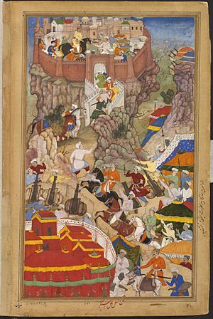 Ranthambore Fort - 1569-Akbar's entry into the fort of Ranthambhor