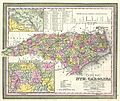 1850 Mitchell Map of North Carolina showing Gold Regions - Geographicus - NorthCarolina-mitchell-1850.jpg