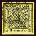 1851issue Württemberg 3kr Stuttgart.jpg