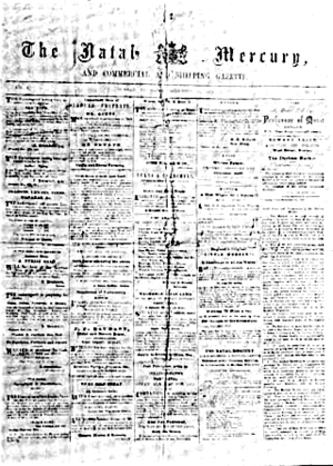 The Mercury (South Africa) - Natal Mercury, 1852