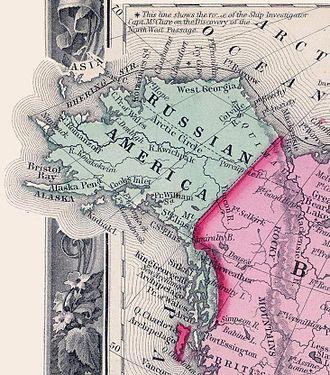 Russian America - Russian America in 1860