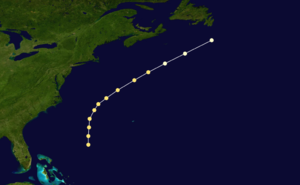 1862 Atlantic hurricane season - Image: 1862 Atlantic hurricane 2 track