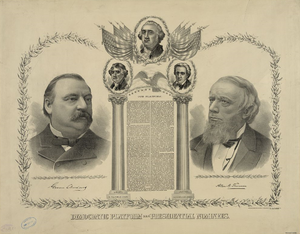 1888 Democratic National Convention - Cleveland/Thurman campaign poster