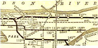 IRT Lenox Avenue Line - This is a map of the Lenox Avenue Line from 1906