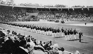 United States at the 1912 Summer Olympics - The team of the United States at the opening ceremony.