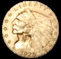 1925-D quarter eagle obverse.png