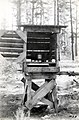 1930. Hygrothermograph and temporary shelter used in brood studies. Klamath Falls, Oregon. (38729089481).jpg