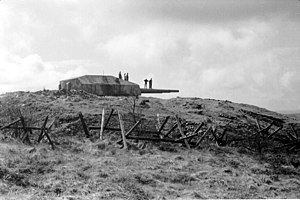 Fjell Fortress - The turret from Gneisenau with its three 28-cm guns in 1963.
