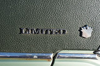Buick Limited Line of upscale cars