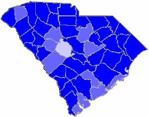 South Carolina gubernatorial election, 1982 - Image: 1982SCGov Results