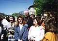 1990 Josef Koukl s mládeží, Dómské náměstí, Litoměřice, D.jpg