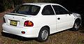 1997 Hyundai Excel (X3) GX 3-door hatchback (2009-01-14) 02.jpg