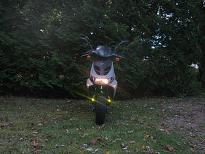 Aprilia SR50 - 2003 Aprilia SR50 Ditech with customized lighting