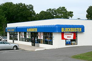 Blockbuster LLC - A Blockbuster store in Durham, North Carolina