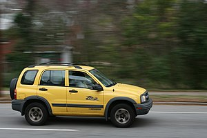 RPO ZR2 - Image: 2009 03 11 Yellow Chevy Tracker on N Gregson St in Durham