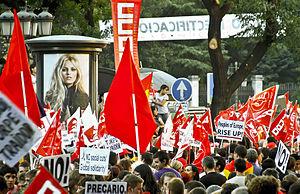 Español: Huelga general en España. Manifestant...