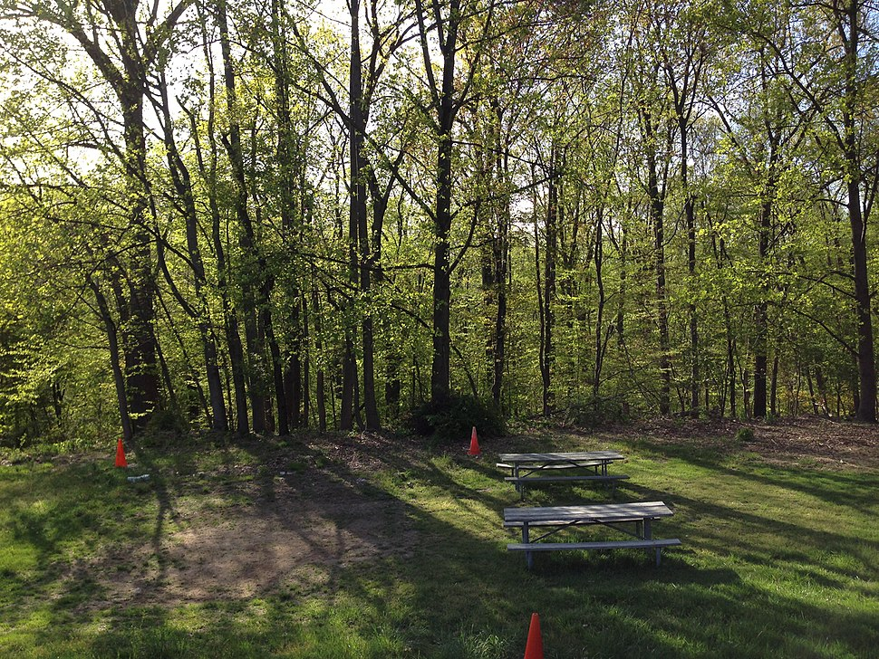 2013-05-06 17 38 56 Picnic area next to the Nature Center at YMCA Camp Bernie