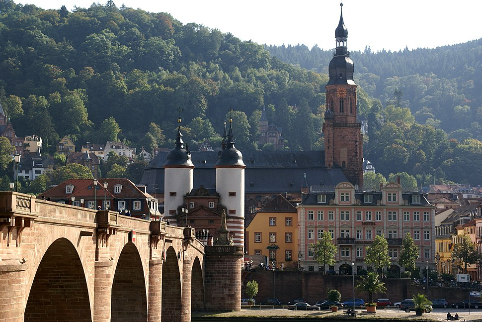2013.10.01.111339 Alte Br%C3%BCcke Heiliggeistkirche View City Heidelberg