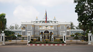 Politics of Laos - The presidential palace in Vientiane.
