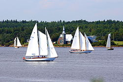 St. Mark's Place behind the 2014 Nova Scotia Schooner Association Race Week course