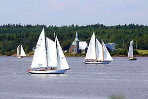 Middle LaHave, Nova Scotia - St. Mark's Place behind the 2014 Nova Scotia Schooner Association Race Week course