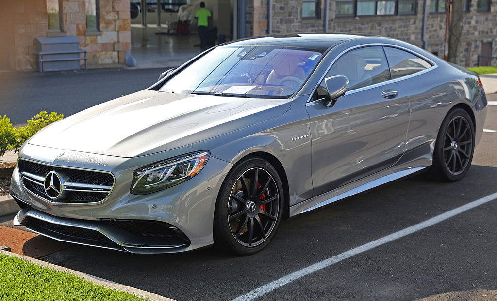 2015 mercedes benz s63 amg coup front left us for Mercedes benz trade in