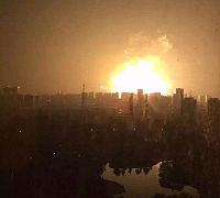 Explosion im Hafen von Tianjin (2015).