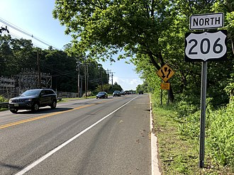 Peapack-Gladstone, New Jersey - US 206 in Peapack-Gladstone