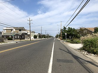 Beach Haven, New Jersey - County Route 607 (Bay Avenue) northbound in Beach Haven