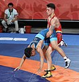 2018-10-12 Wrestling Boys Greco-Roman 71kg at 2018 Summer Youth Olympics – Classification 5th6th Place COL-GUM (Martin Rulsch) 15.jpg