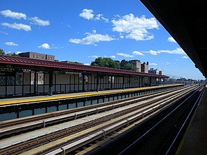 233rd Street (IRT White Plains Road Line) - Northbound platform