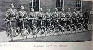 Inns of Court Regiment - Cyclists section, 23rd Middlesex Rifle Volunteers (Inns of Court), 1897