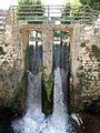 241 Comporta del canal d'Urgell, vora la Casa del Canal (Mollerussa).JPG