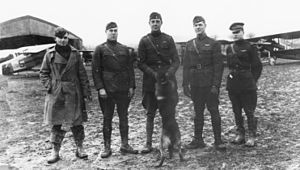 28th Aero Squadron - 28th Aero Squadron Command staff, November 1918