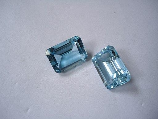2 blue topaz crystals