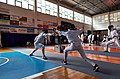 2nd Leonidas Pirgos Fencing Tournament. The counter-attack of Giorgos Minas on the lunge of Nikolaos Theodoropoulos.jpg