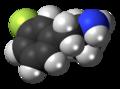 3-Fluoroamphetamine molecule spacefill.png