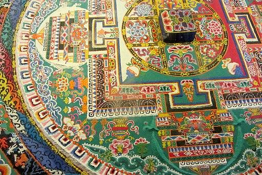 348Sandbild im Sera Kloster