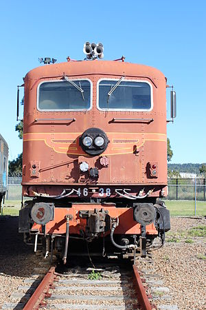 New South Wales 46 class locomotive - Preserved 4638 at Broadmeadow Locomotive Depot in July 2013